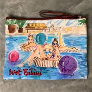 Henri Bendel Poolside wet bikini bag